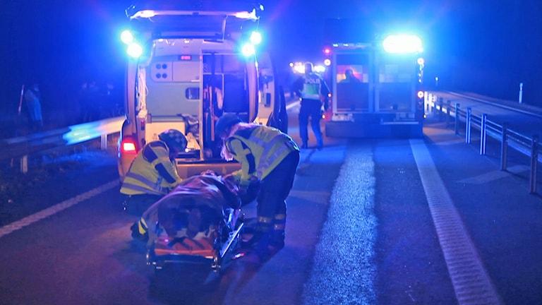 Olycka E 22 utanför Norrköping. Foto: Björn Persson/Wighsnews