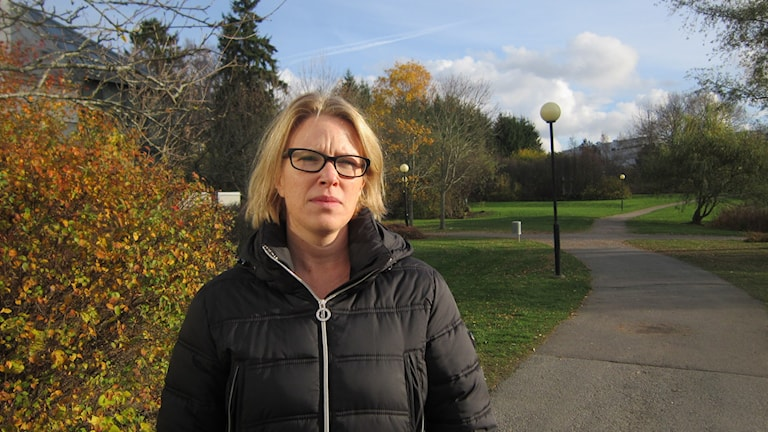 Rektor Charlotta Stjärne, Ljungsbro skola. Foto: Raina Medelius/Sveriges Radio