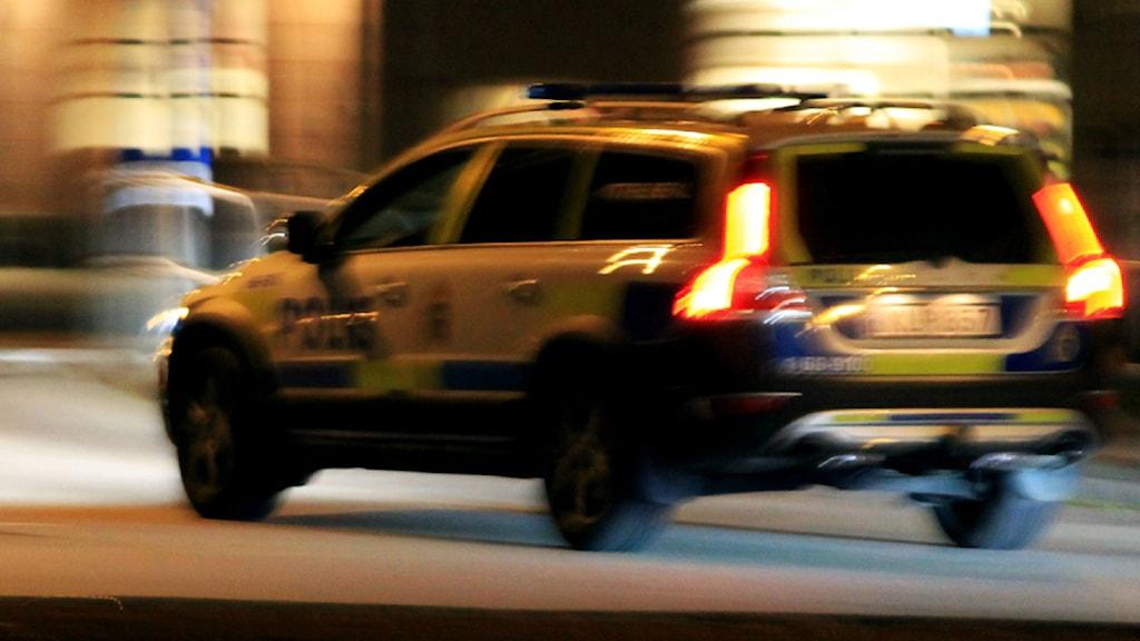 Polisbil. Foto: Nick Näslund/Sveriges Radio.
