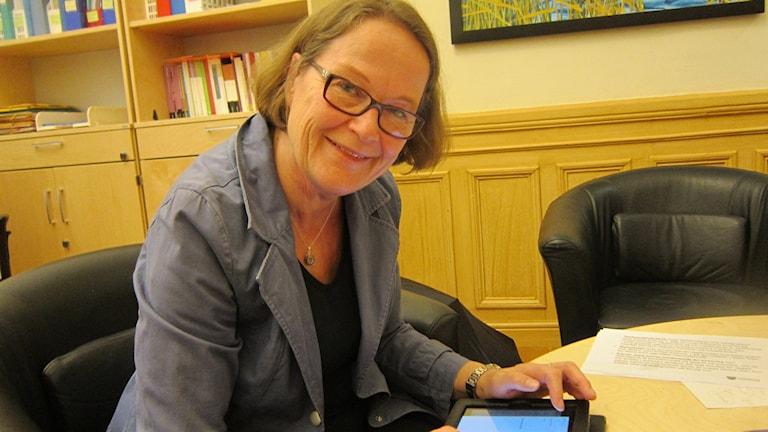 Carina Boberg(FP) ordförande i bildningsnämnden i Linköping. Foto: Raina Medelius/Sveriges Radio