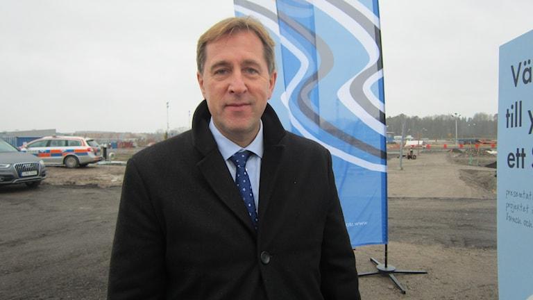 Fredrik Törnqvist, vd för Stångåstaden. Foto: Raina Medelius/Sveriges Radio