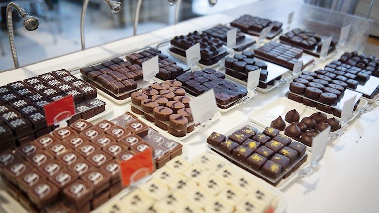 Praliner på Chokladfabriken i Stockholm. Foto: Pi Frisk/TT