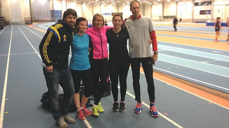Daniel Ekwall, Jessica Knutsson, Frida Södermark, Stina Danielsson och Ulf Svensson. Foto Petter Ahnoff/Sveriges Radio