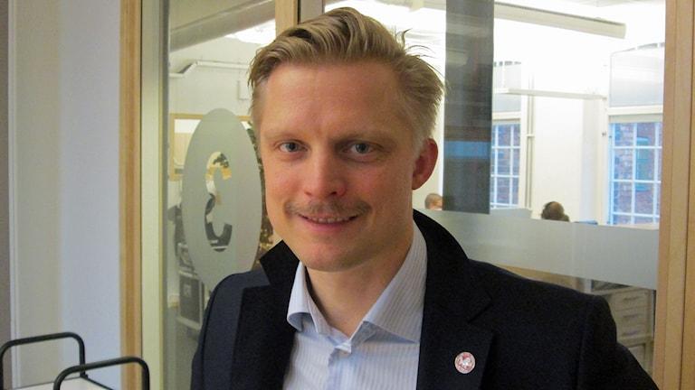 Fredrik Jensen, vd Vita Hästen. Foto: Peter Bengtsson/Sveriges Radio