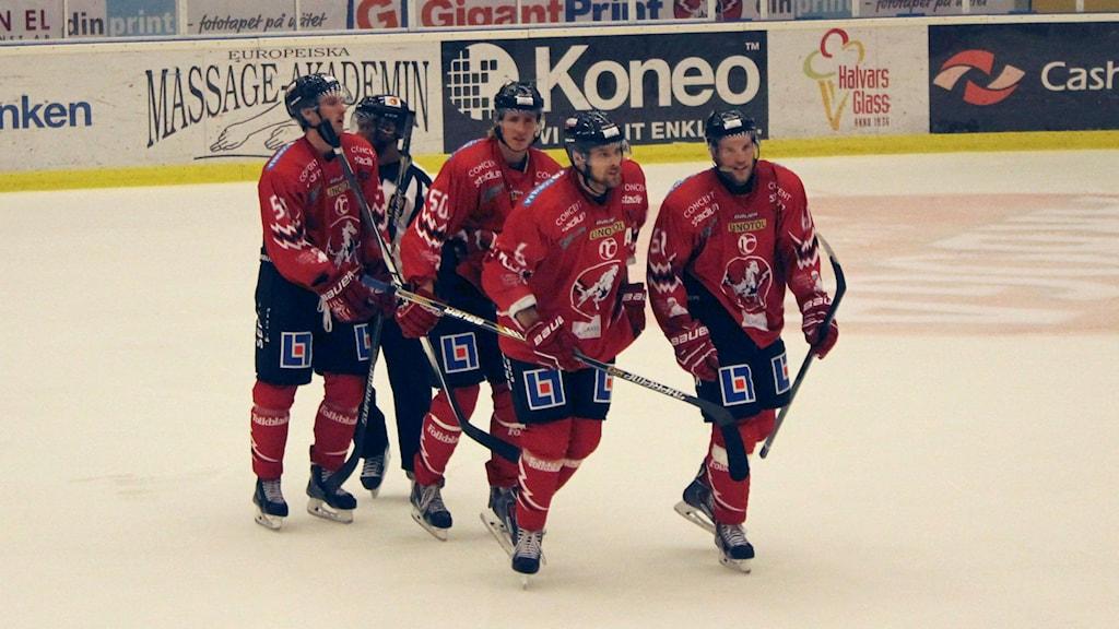 Vita Hästenspelare. Foto: Christina Turesson/Sveriges Radio.