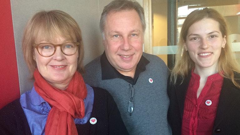 Christina Ståhl, Anders Holmefur och Luiza Mara Timoc