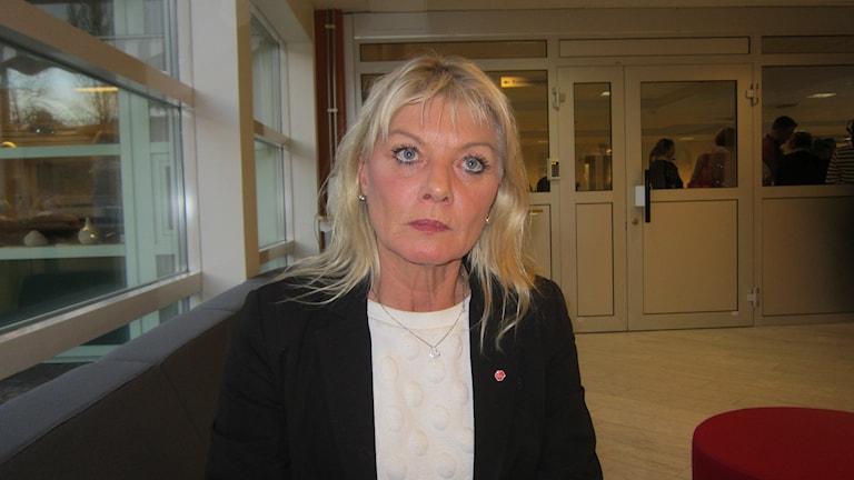 Anne-Lie Liljedahl (S) ordförande i socialnämnden i Motala. Foto: Raina Medelius/Sveriges Radio