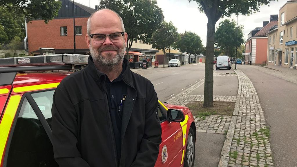 Kjell Zingmark, räddningstjänsten Motala-Vadstena på plats i Borensberg.