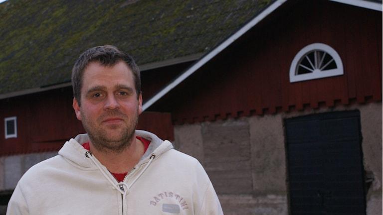 Anton Gustafsson, lantbrukare Motala. Foto: Tahir Yousef/Sveriges Radio
