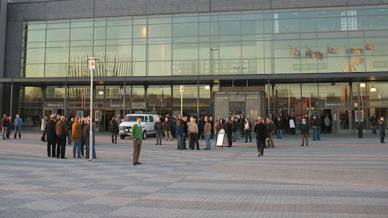 Entrén Saab Arena. Foto: Daniel Klaar/Sveriges Radio.