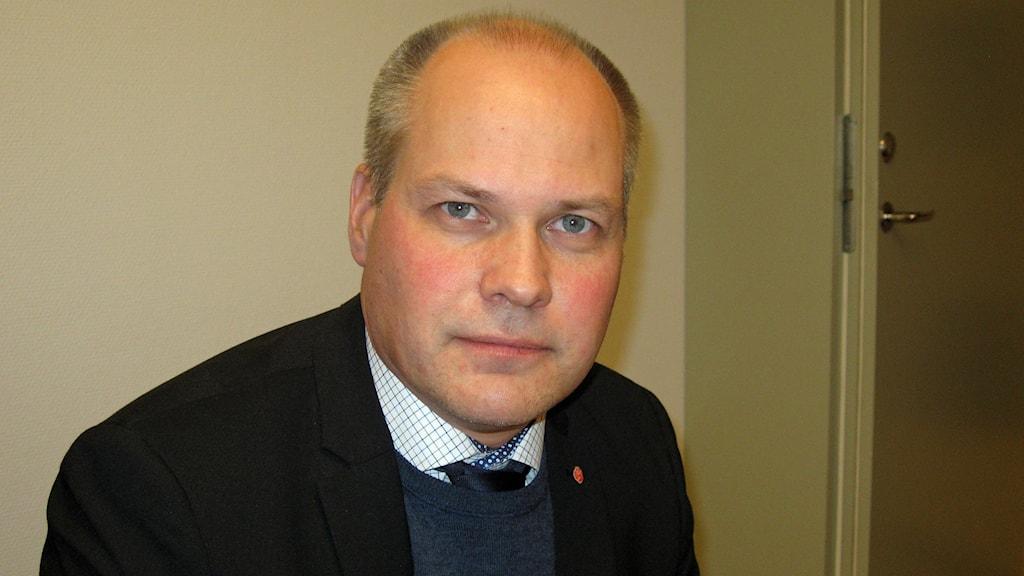 Justitie- och migrationsminister Morgan Johansson (S). Foto: Johan Gustafsson/Sveriges Radio