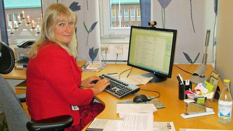 Lena Lundgren, hälso- och sjukvårdsdirektör. Foto: Marie-Louise Kristensson/Sveriges Radio