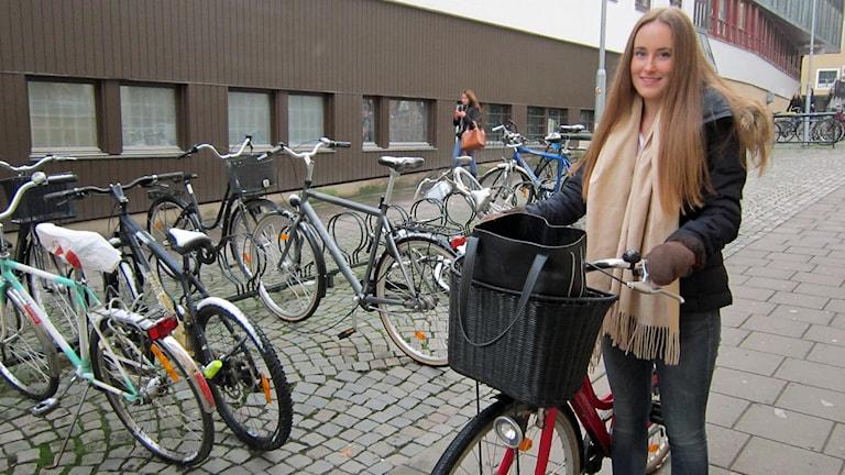 Sara Lindh, cyklist i Linköping.