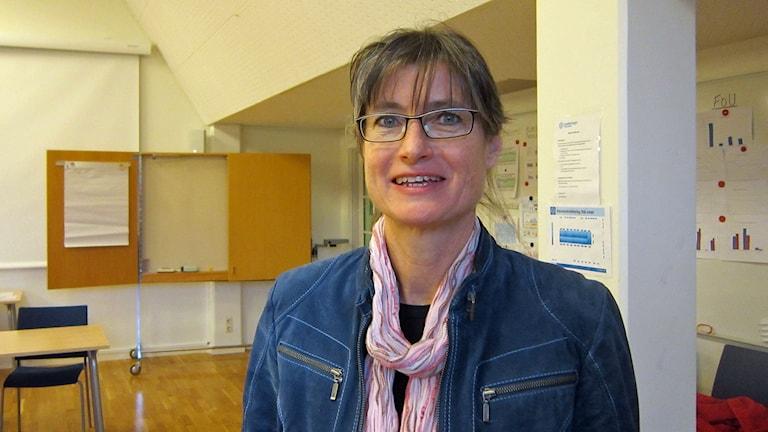 Infectious disease control physician Britt Åkerlind. Photo: Raina Medelius/Sveriges Radio