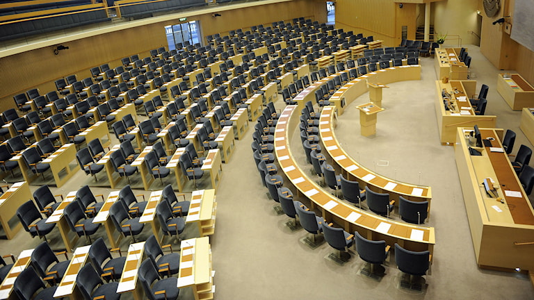 Riksdagens plenisal. Foto: Erik Mårtensson/TT