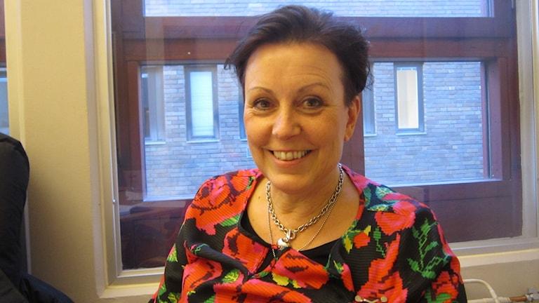 Verksamhetsledare Kristin Ericsson på Nyföretagarcentrum i västra Östergötland. Foto: Raina Medelius/Sveriges Radio