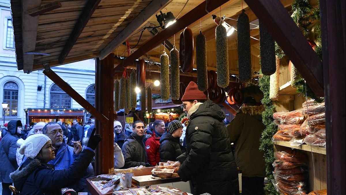 Marknad. Foto: Anders Wiklund/TT