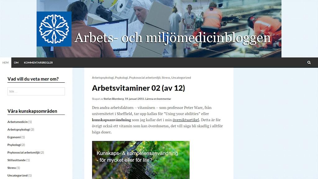 Arbets- och miljömedicinbloggen