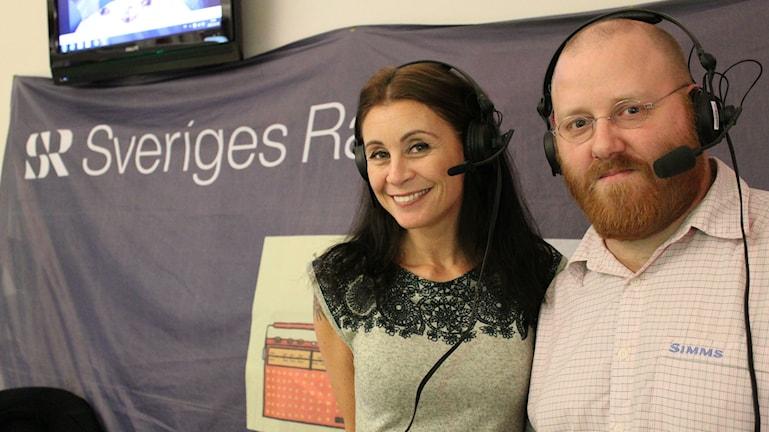 Charlotte Lauterbach och Johan Gustafsson. Foto: Cecilia Osorio/Sveriges Radio