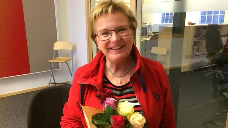 Floristen Lis Bergström. Foto: Elin Steen/Sveriges radio
