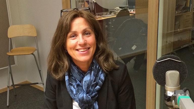 Camilla Ruben, ordförande i Norrköpings gymnastikförening. Foto: Elin Steen/Sveriges Radio