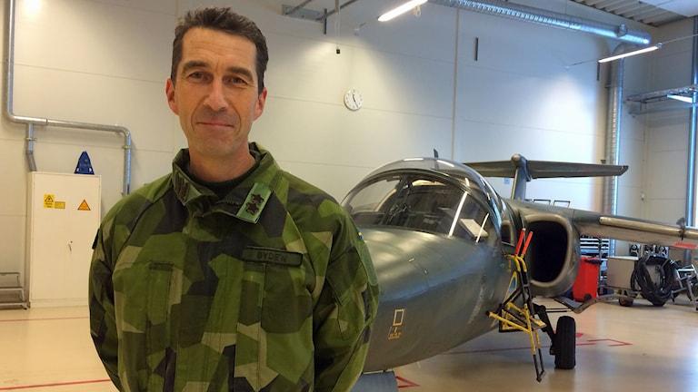Flygvapenchefen generalmajor Micael Bydén. Foto: Peter Weyde/Sveriges Radio