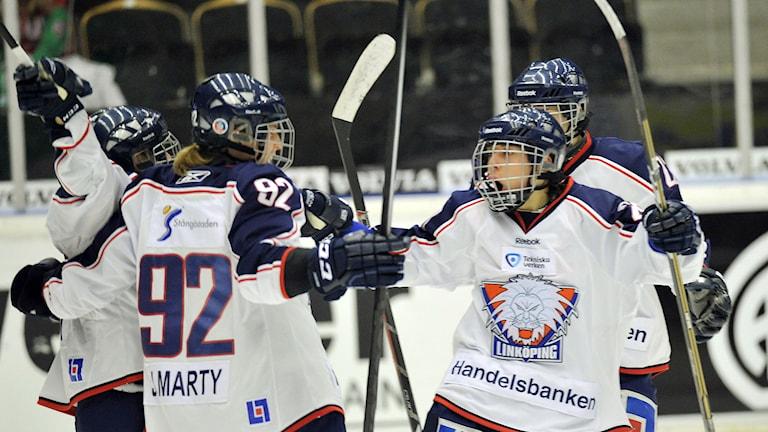 Jublande LHC-spelare. Foto: Håkan Nordström/TT.