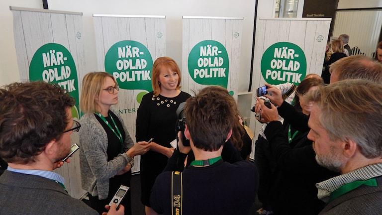 Annie Lööf (C) på Centerpartiets kommundagar i Norrköping. Foto: Per Wistbo Nibell/Sveriges Radio