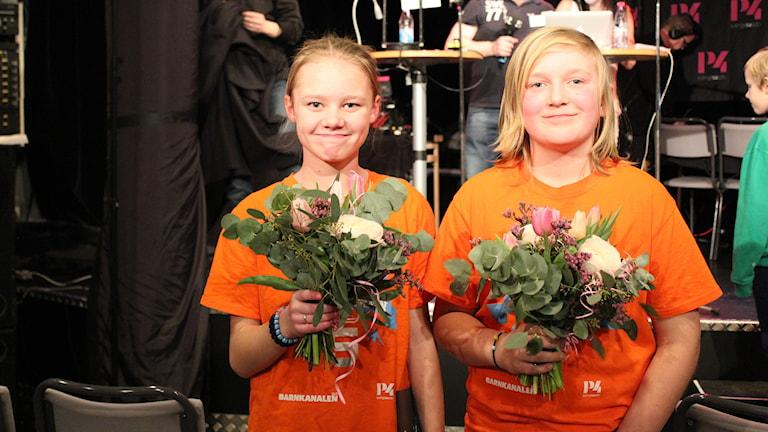 Moa Ejvegård och Leo Hultenius. Foto: Cecilia Osorio/Sveriges Radio