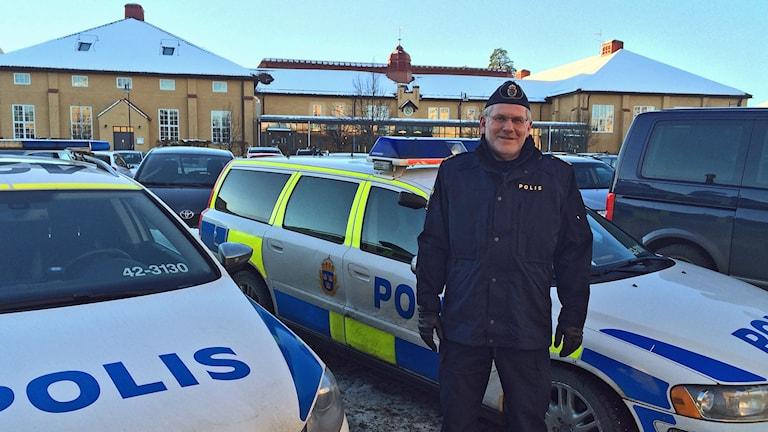 Trafikpolischefen Lars-Jonney Jonsson. Foto: Peter Weyde/Sveriges Radio