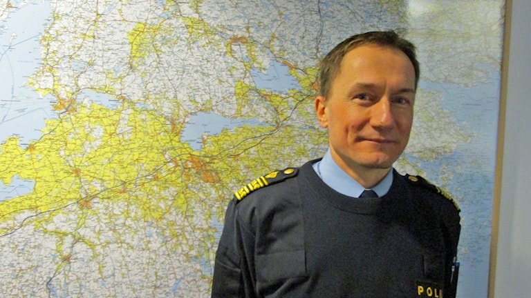 Robert Wallén, polisområdeschef Östergötland. Foto: Lotta Ederth/Sveriges Radio