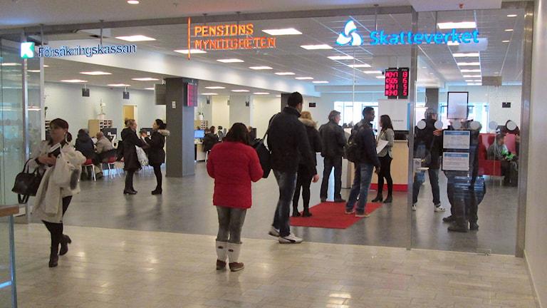 Gemensamt kontor för Försäkringskassan, Pensionsmyndigheten och Skatteverket i Norrköping. Foto: Lotta Ederth/Sveriges Radio