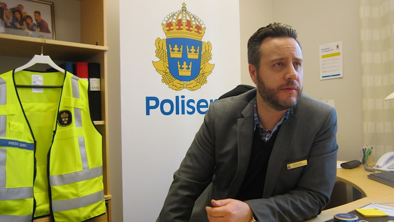 Presstalesperson Fredrik Kliman på polisen i Östergötland. Foto: Raina Medelius/Sveriges Radio