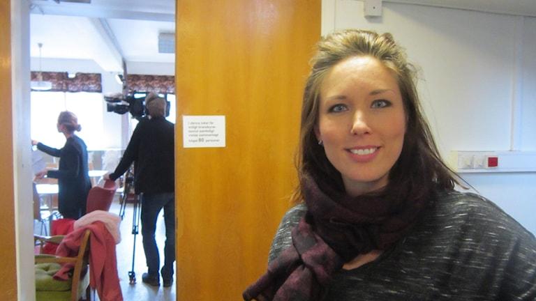 Projektledare Elin Sjögedahl på Crossraids Linköpings stadsmission. Foto: Raina Medelius/Sveriges Radio