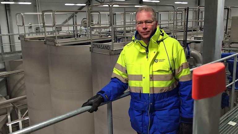Joakim Persson, produktionschef Tekniska verken. Foto: Jessica Gredin/Sveriges Radio