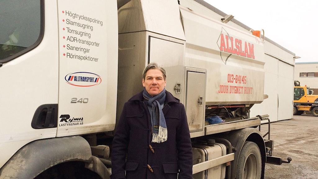 Henrik Åkerström, VD för Alltransport. Foto: Peter Weyde/Sveriges Radio