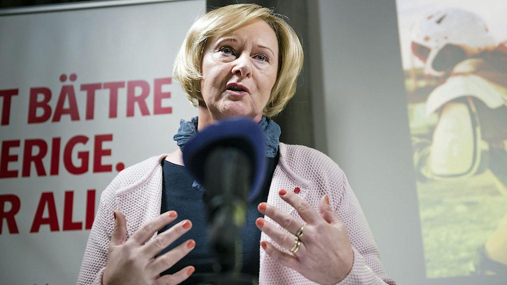 Lena Micko (S). Foto: Vilhelm Stokstad/TT