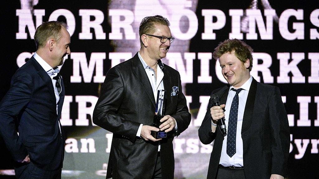 Norrköpings Symfoniorkester belönades med en grammis i kategorin Årets klassiska 2015. Foto: Henrik Montgomery/TT.