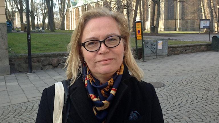 Britta Lejon, förbundsordförande i fackförbundet ST. Foto: Jimmy Calmerberg/Sveriges Radio