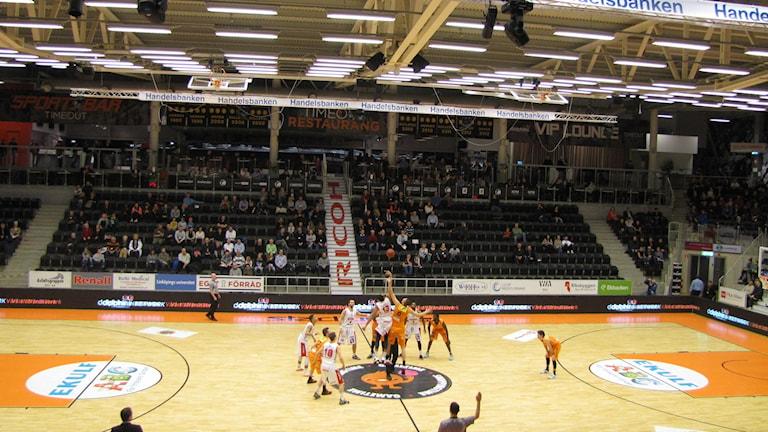 Norrköping Dolphins förlorade hemmamatchen mot Sundsvall med 83-84. Foto: Rickard Jansson/Sveriges Radio.