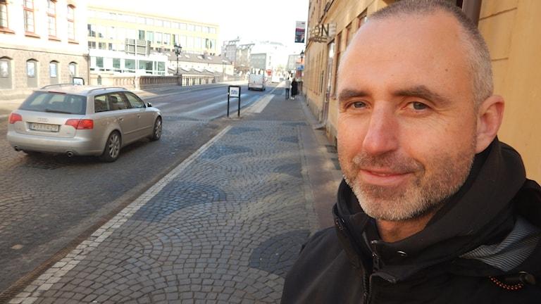 Pontus Edqvist, Norrköpings kommun har koll på luften. Foto: Christian Ströberg/Sveriges Radio