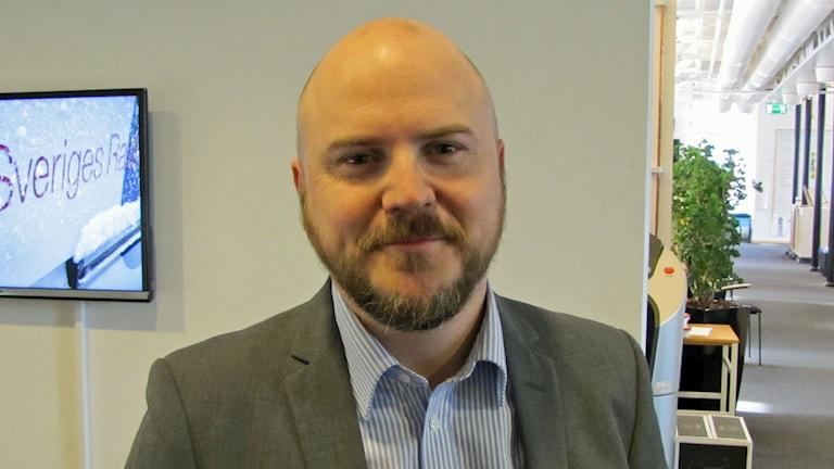 Mathias Sundin, ordförande för Folkpartiet i Östergötland. Foto: Peter Kristensson/Sveriges Radio
