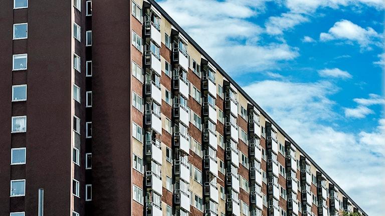Flerfamiljshus i Stockholm. Foto: Tomas Oneborg/TT
