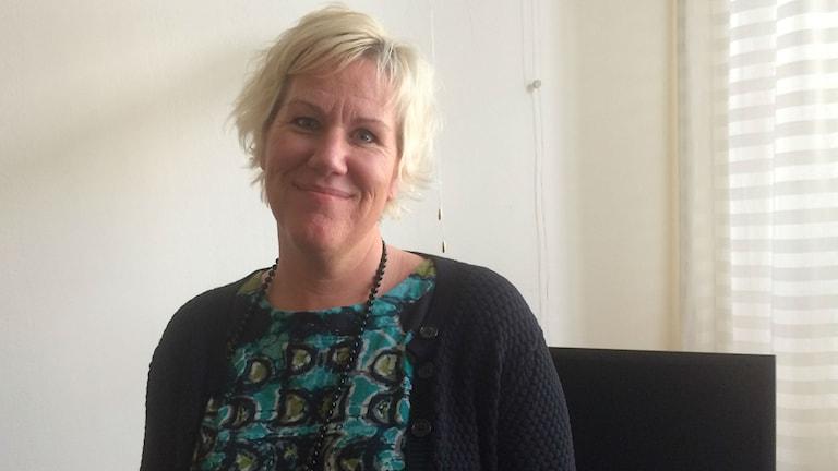 Kommunalrådet Kristina Edlund (S). Foto: Raina Medelius/Sveriges Radio