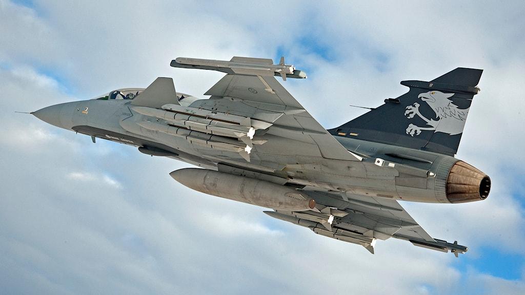 Gripen version E/F testplan. Foto: Stefan Kalm/Saab