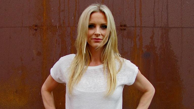 Författaren Emelie Schepp. Foto: Peter Kristensson/Sveriges Radio