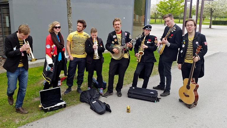 Promenadorquestern på plats i Linköping.
