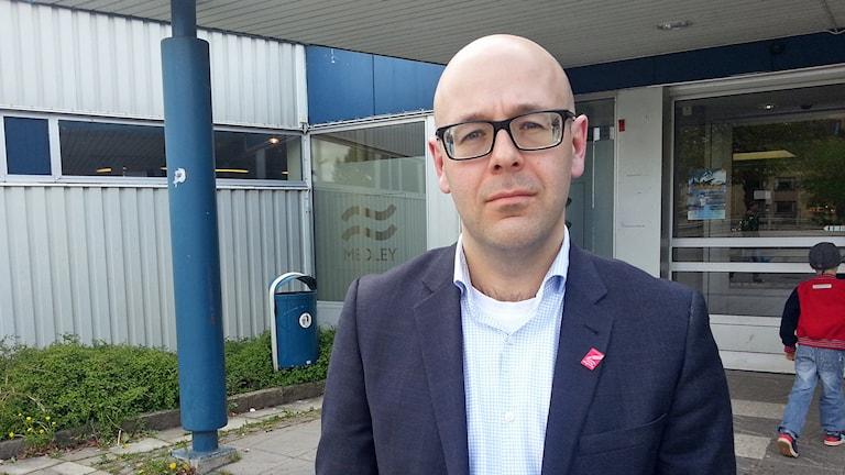 Kommunalrådet Jakob Björneke (S) i Linköping. Foto: Molly Berggren/Sveriges Radio