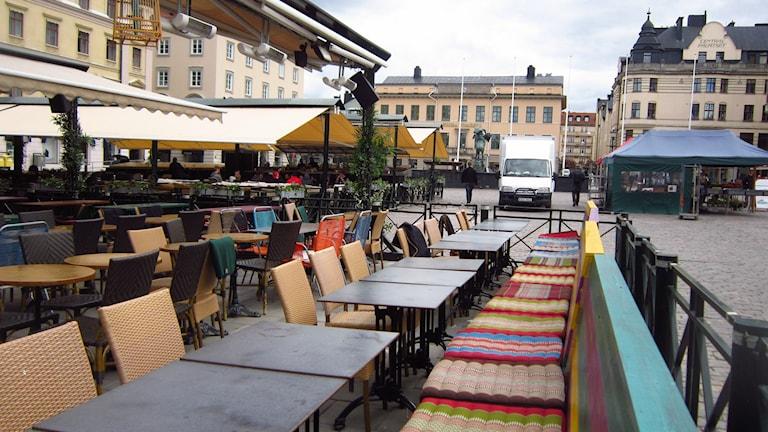 Stora torget i Linköping. Foto: Sveriges Radio