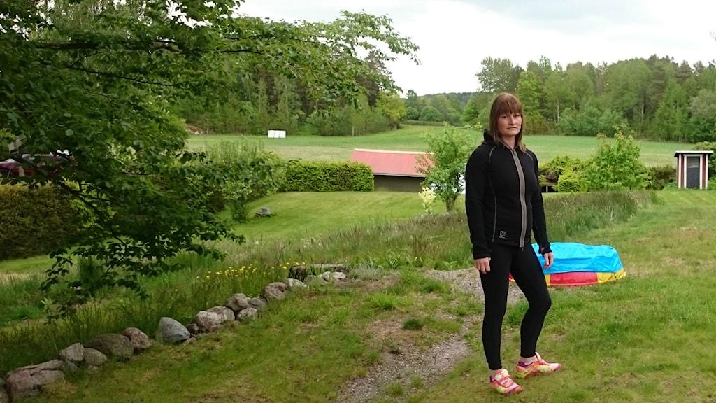 Caroline Svejd i Marby utanför Norrköping. Foto: Privat